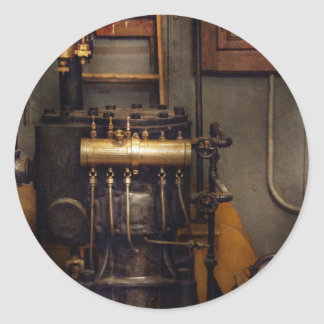 Steampunk - Back in the engine room Classic Round Sticker