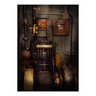 Steampunk - Back in the engine room Posters