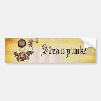 Steampunk Balloon Antique Yellow Bumper Sticker