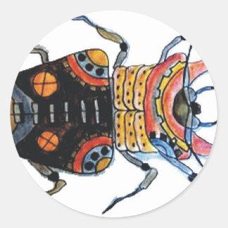 Steampunk Beetle 2.jpg Classic Round Sticker