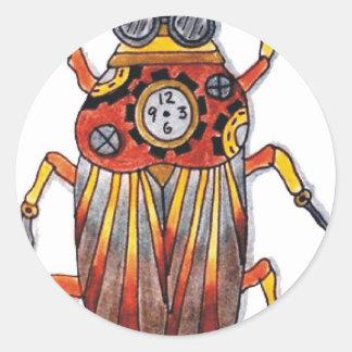 Steampunk Beetle.jpg Classic Round Sticker