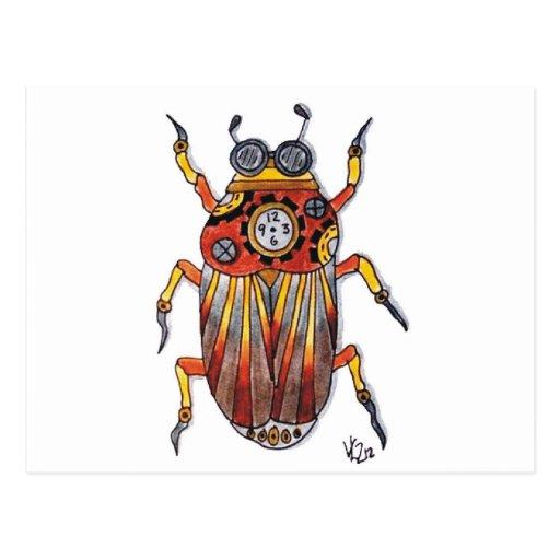 Steampunk Beetle.jpg Postal
