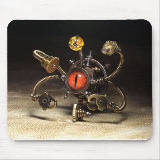 Steampunk Beholder Robot by Artist Daniel Proulx Mouse Pad