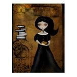 Steampunk Bibliophile Postcard