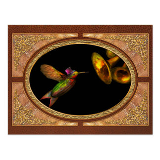Steampunk - Bird - Apodiformes Centrifigalus Postcard