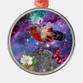 Steampunk Bird Metal Ornament