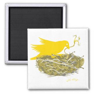 steampunk bird nest magnet