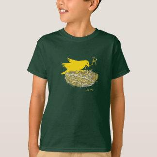 Steampunk bird nest t-shirt