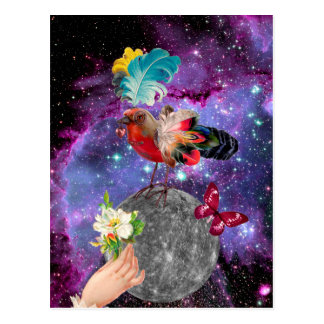 Steampunk Bird Postcard