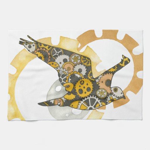 Steampunk Bird Towel