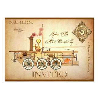 Steampunk Birthday Party Custom Invites