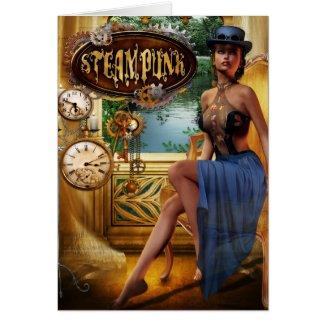 Steampunk Blank Card