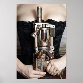 Steampunk Blaster Poster