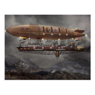 Steampunk - Blimp - Airship Maximus Postcard