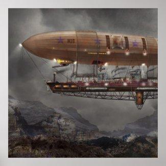 Steampunk - Blimp - Airship Maximus Poster