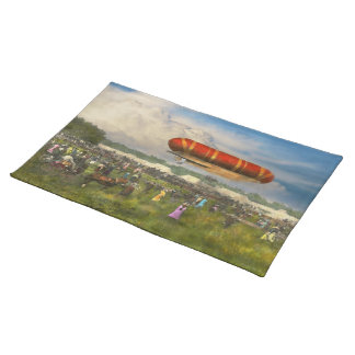 Steampunk - Blimp - Launching Nulli Secundus II Cloth Placemat