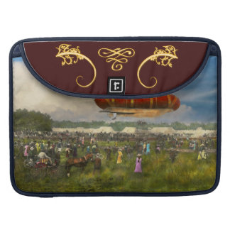 Steampunk - Blimp - Launching Nulli Secundus II Sleeve For MacBook Pro