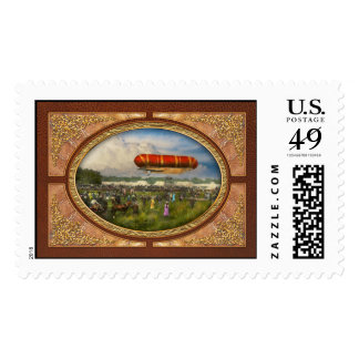 Steampunk - Blimp - Launching Nulli Secundus II Stamp
