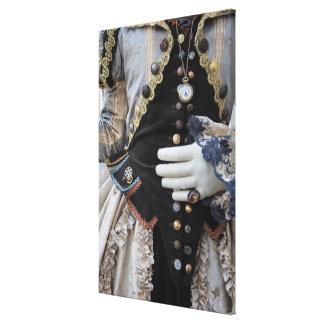 Steampunk bodice, Carnival, Venice Canvas Print