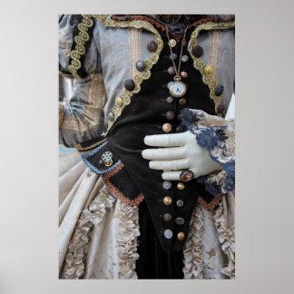 Steampunk bodice, Carnival, Venice Poster