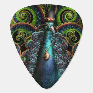 Steampunk - bonito como pavo real uñeta de guitarra