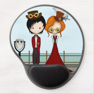 Steampunk Boy and Girl at the Seaside Gel Mouse Pads
