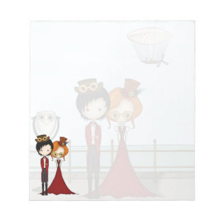Steampunk Boy and Girl at the Seaside Notepads