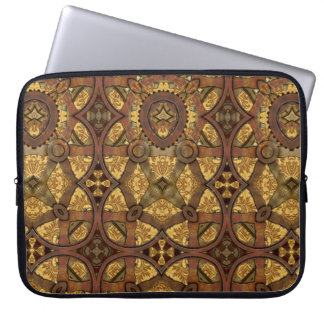 Steampunk Brass and Copper Gears Laptop Sleeve