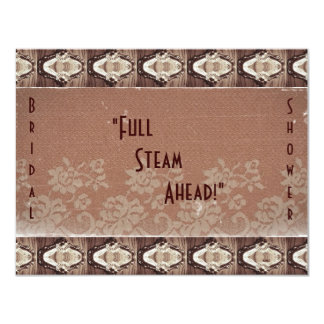 Steampunk Brass and Lace Bride's Shower Card