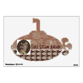 Steampunk Brass and Lace Wall Sticker