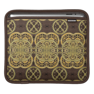 Steampunk Brass Cogs and Leather Sleeves For iPads