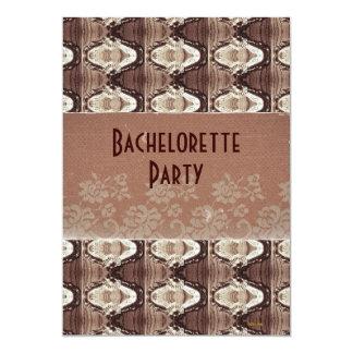 Steampunk Brass & Lace Bachelorette Party Invite