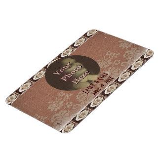 Steampunk Brass & Lace Photo Commemorative Rectangle Magnet