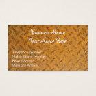 Steampunk Brass Plate Metal-effect Business Cards