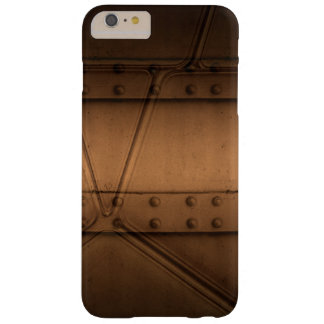 Steampunk Brown Metal With Rivets iPhone Case Barely There iPhone 6 Plus Case