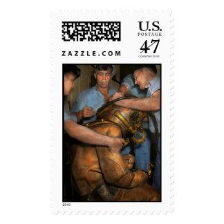 Steampunk - buceador - una carga de mis hombros sello postal