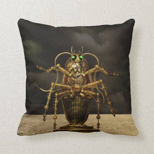 Steampunk Bug Pillow