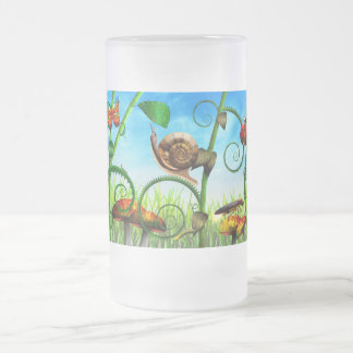 Steampunk - Bugs - Evolution take time 16 Oz Frosted Glass Beer Mug