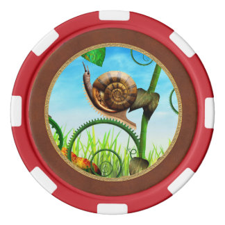 Steampunk - Bugs - Evolution take time Poker Chips