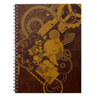 Steampunk Bunny Note Books
