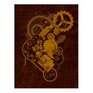 Steampunk Bunny Postcard