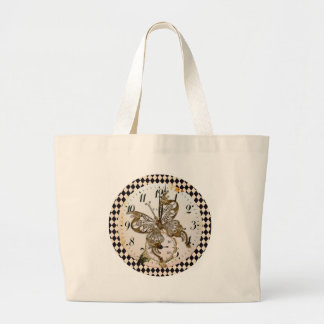Steampunk Butterfly Round Tote Bag