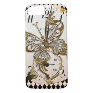 Steampunk Butterfly Round iPhone 7 Case