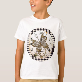 Steampunk Butterfly Round T-Shirt