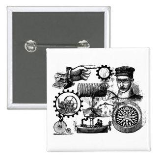 steampunk button