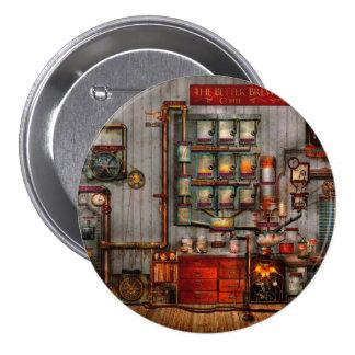 Steampunk - café - el fabricante de café de la com pin redondo 7 cm