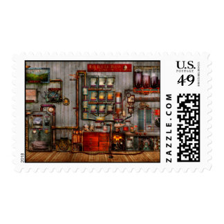 Steampunk - café - el fabricante de café de la com sello
