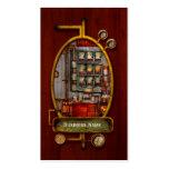 Steampunk - café - el fabricante de café de la com tarjeta de visita