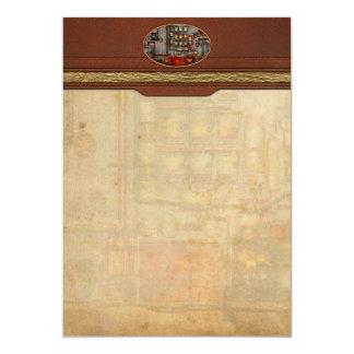 Steampunk - café - el fabricante de café de la invitación 12,7 x 17,8 cm