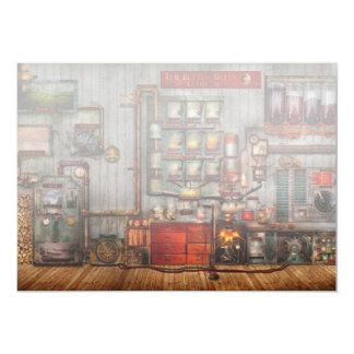 Steampunk - café - el fabricante de café de la anuncio